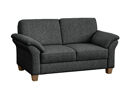 Cavadore 5900984017337 2-Sitzer Ecksofa, Schaumstoff, grau, 156 x 88 x 87 cm