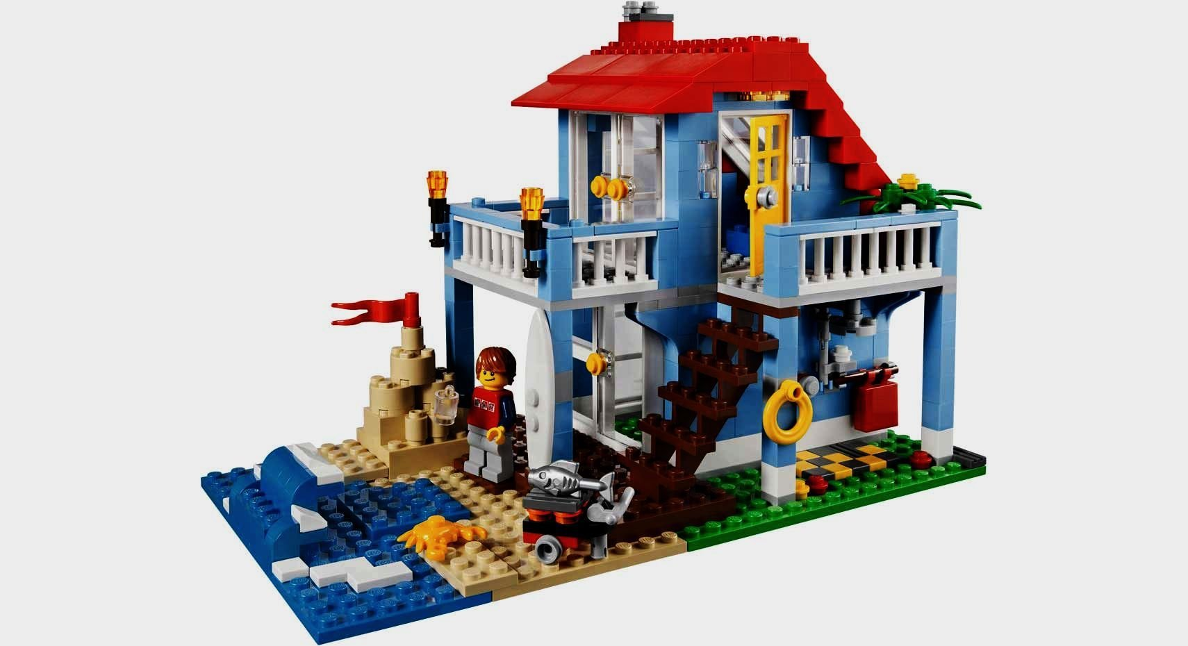 Lego creator 7346 seaside house ebay - Lego construction maison ...