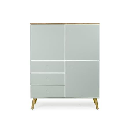 Tenzo Dot Designer Cabinet, Chipboard and MDF, Green/Oak