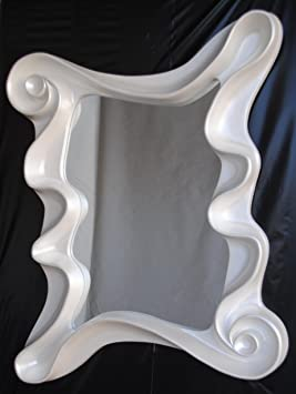 FAVI Decorative Mirror with Frame Mother-Of-Pearl White – Premium Selection