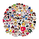 EXO Stickers Cartoon Laptop Stickers Cute Girl Vinyl Sticker Computer Car Skateboard Motorcycle Bicycle Luggage Guitar Bike Decal 63pcs Pack (Color: EXO)