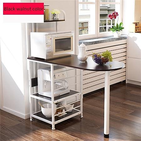 Haushaltsgegenstände Regale Kuchenregale Mikrowellenherd Creative Multifunktionslager Rack Standfuß -CRS-ZBBZ ( Farbe : Black walnut color )