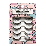 HELLO BEAUTY Multipack Demi Wispies Fake Eyelashes (Color: Black, Tamaño: 120)