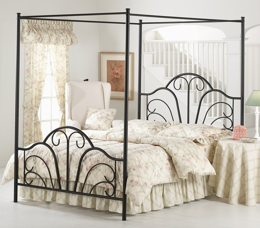 Hillsdale Furniture 348BQPR Dover Canopy Bed Set with Rails and
