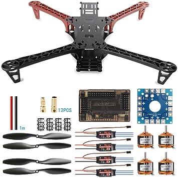 XCSOURCE® Monture de drone durable FPV Reptile500 Quadcopter kit ESC moteur 1045 Prop RC141