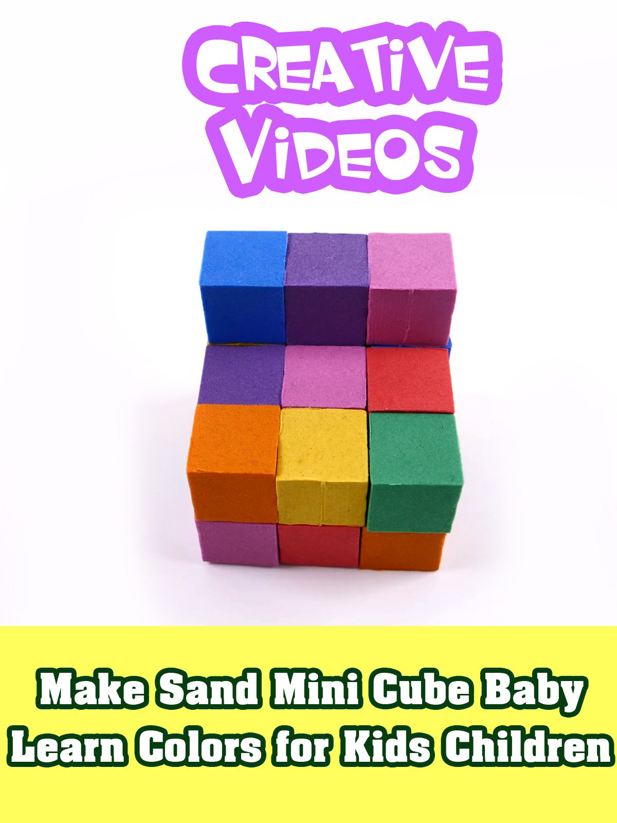 Make Sand Mini Cube Baby Learn Colors for Kids Children