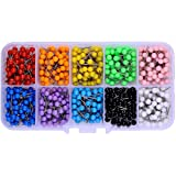 600 PCS Multi-color Push Pins Map tacks ,1/8 inch Round head with Stainless Point, 10 Assorted Colors (Each Color 60 PCS) in reconfigurable container for bulletin board, fabric marking (Tamaño: 600 Pack)