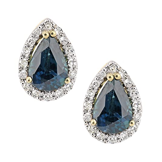 Naava 18ct Yellow Gold  Diamond Teardrop Stud Earrings
