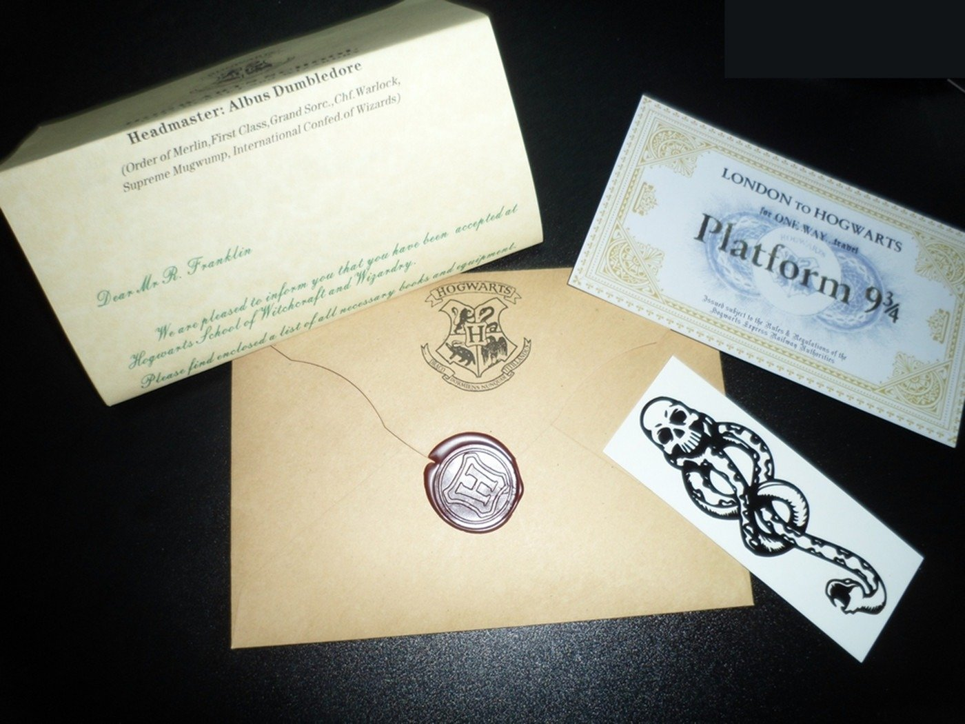 Letter From Hogwarts and Ticket to Hogwarts Express