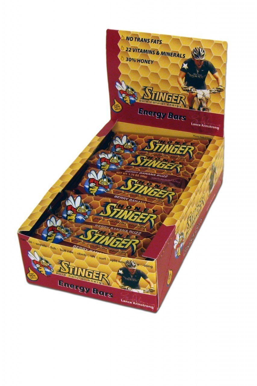 Honey Stinger Berry Banana Buzz Energy Bar, 1.75 Ounce -- 15 per case.