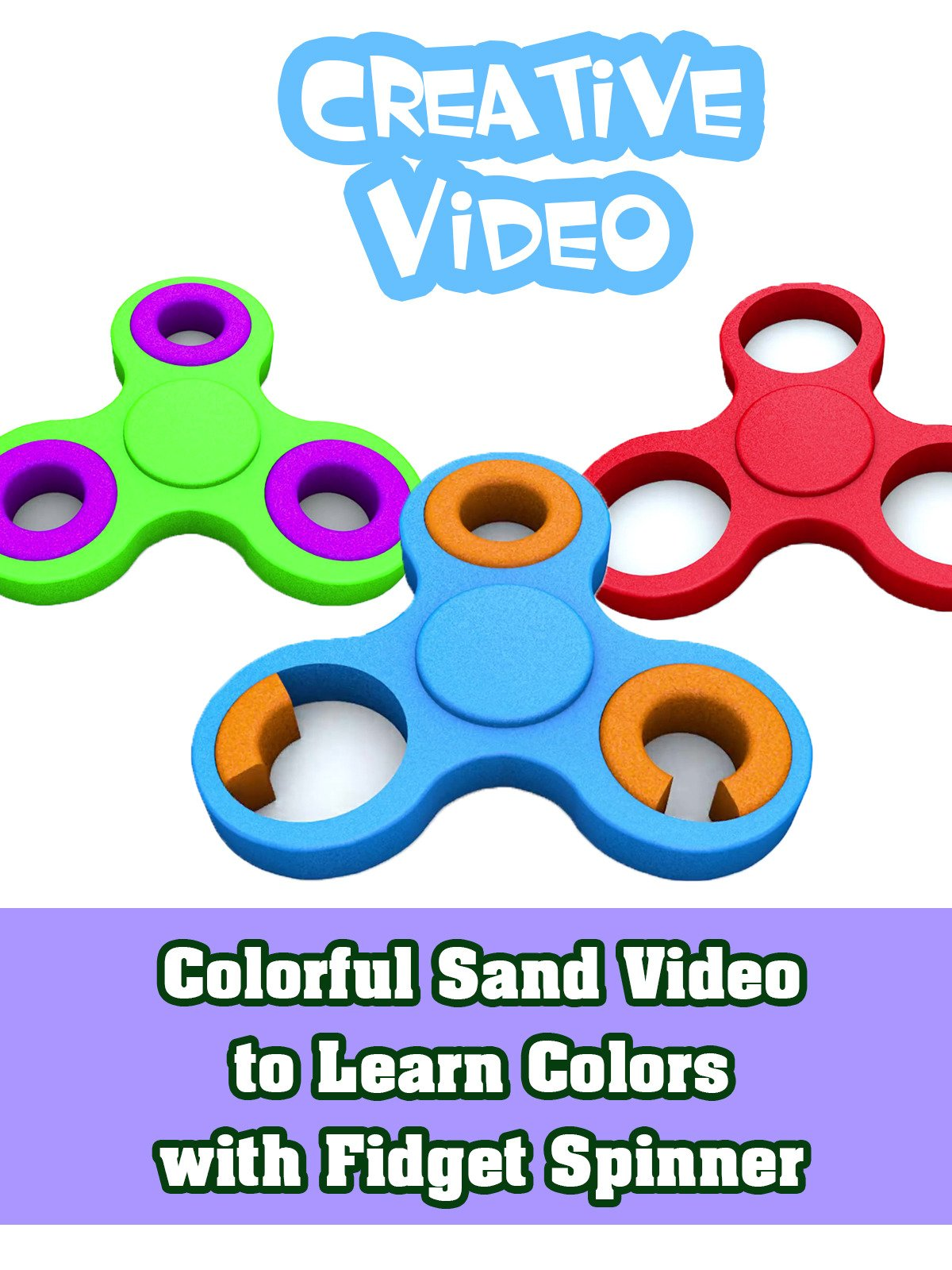 Colorful Sand Video to Learn Colors with Fidget Spinner