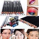 Nicky's Gift 12 Color Glitter Lip Eyebrow Eyeliner Pencil Pen Cosmetic Makeup Besuty Set Kit