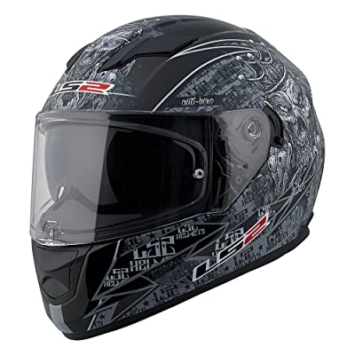 LS2 Stream Anti-Hero Full Face Motorcycle Helmet With Sunshield