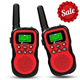 Walkie Talkies for Kids, Vansky 22 Channel 2 Way Radio Long Range Built-In Flashlight Boys Girls Toy Best Gifts Games, Outdoor Adventure Uhf Interphone (Red, 2 Pack) (Color: Red)
