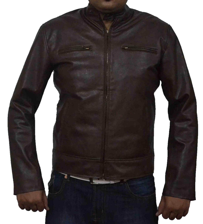 HLS Mark Welhberg Contraband Coffee Brown antique Real Cowhide Leather Jacket günstig bestellen
