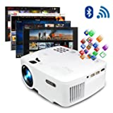 ERISAN Projector Video Home TV Theater, LED Android 6.0 WiFi Bluetooth, 220 ANSI Lumen, Support 1080P Full HD, iOS Compatiable, 2018 Updated Quieter Fan, Mini Smart Video Beam, Multimedia Party Games (Color: Android Projector (WiFi Bluetooth Version))