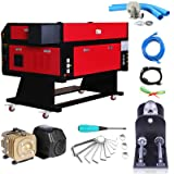 Mophorn Laser Engraver 80W Laser Cutter CO2 Laser Tube Laser Engraving Machine 700MM X 500MM with 80MM CNC Router Rotary Axis (Tamaño: 28