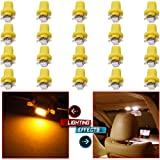 cciyu Yellow 1SMD 5050 LED Bulb B8.5D Car LED Instrument Indicator Light C5W Side Interior Lamp Set of 20pcs (Color: Yellow)