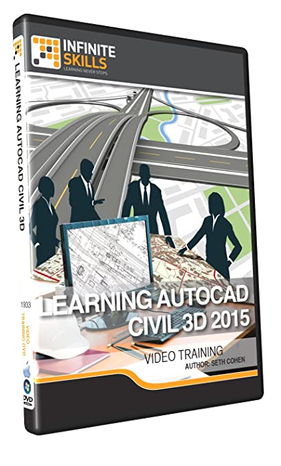 Learning AutoCAD Civil 3D 2015 - Training DVD Book Cover