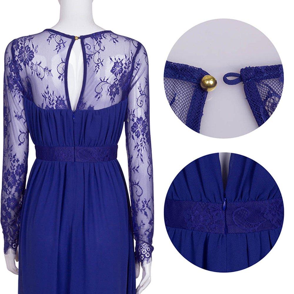 Merope J Women's Casual Deep- V Neck Sleeveless Vintage Maxi Dress 4