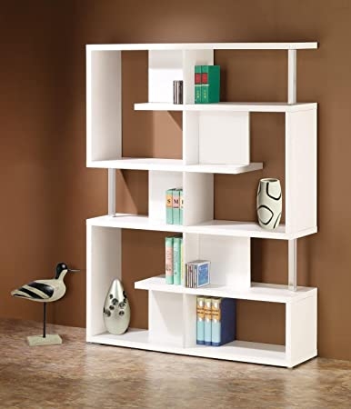 1PerfectChoice Modern White Bookcase