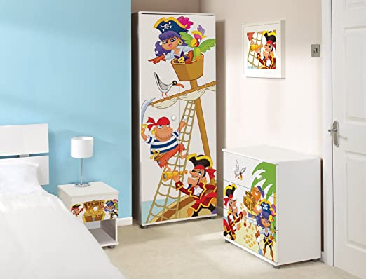 Pirate Design Childrens/Kids White Bedroom Furniture Sets
