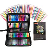 Gel Pens, Shuttle Art 120 Pack Gel Pen Set 60 Colored Gel Pen with 60 Refills for Adults Coloring Books Drawing Doodling Crafts Scrapbooking Bullet Journaling