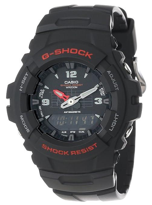 Casio 卡西欧 G-Shock系列 G100-1BV 指针数字双显手表