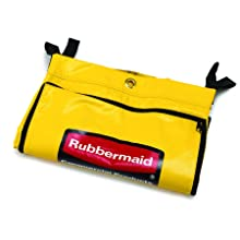 Rubbermaid Commercial Vinyl Replacement Bag for Cleaning Cart, Yellow