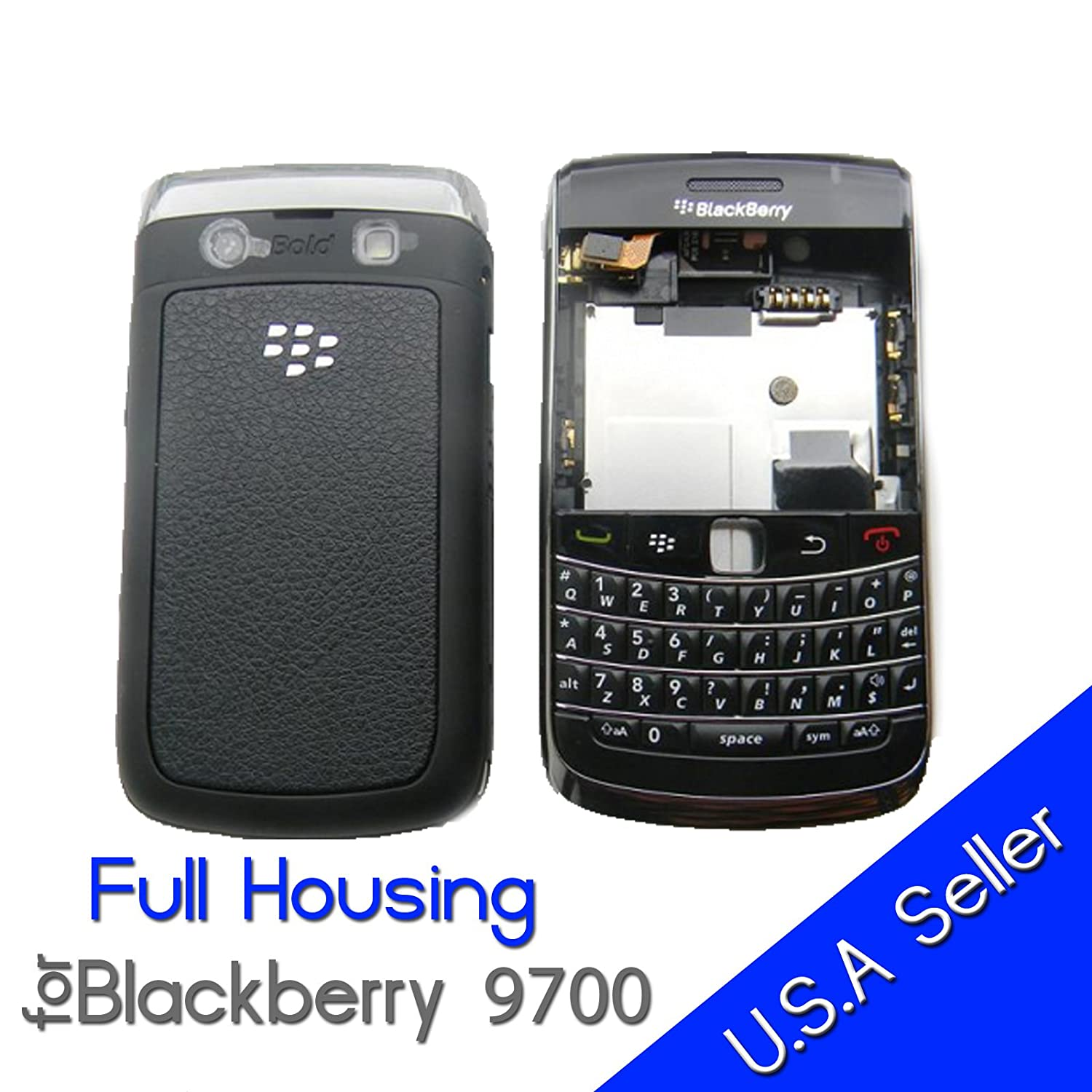 Amazon.com: Blackberry Bold 9700 OEM Full Housing with Battery Door: Cell  Phones & Accessories