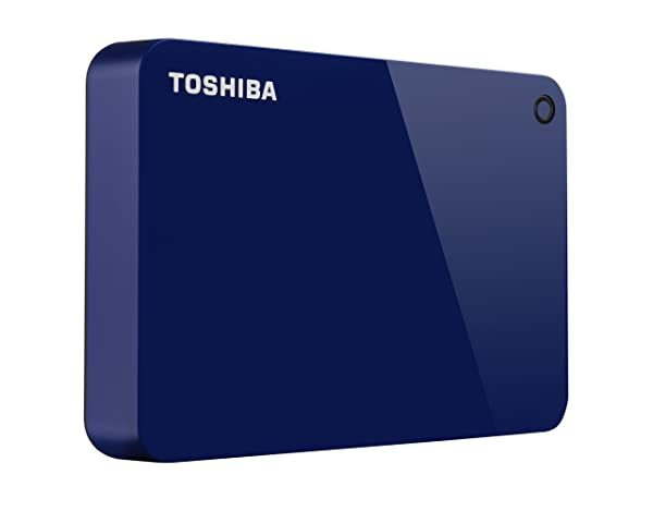 Toshiba Canvio Advance 4TB Portable External Hard Drive USB 3.0, Blue (HDTC940XL3CA) (Color: Blue, Tamaño: 4TB)