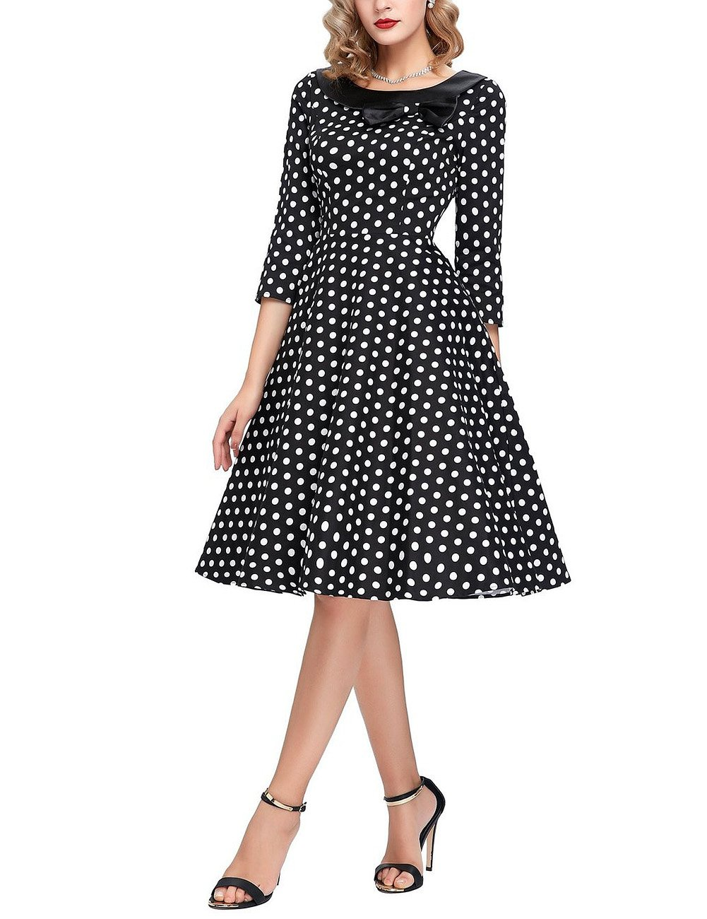 GlorySunshine Women's Vintage Swing Polka Dot Dress 5