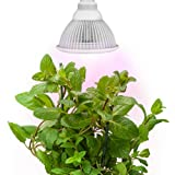 Sandalwood LED Plant Grow Light for Hydroponic Garden and Greenhouse, 12W, E27 Socket, 3 Bands