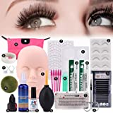 19pcs False Eyelashes Extension Practice Exercise Set, Professional Flat Mannequin Head Lip Makeup Eyelash Grafting Training Tool Kit for Makeup Practice Eye Lashes Graft (Tamaño: Eyelashes Extension Practice Set)