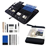 Drawing Set Sketch Pencil Kit 40-Piece Charcoal Set Art Supplies, Graphite, Kneaded Eraser, Charcoal Sticks, for Teens, Kids and Adults (Color: set)