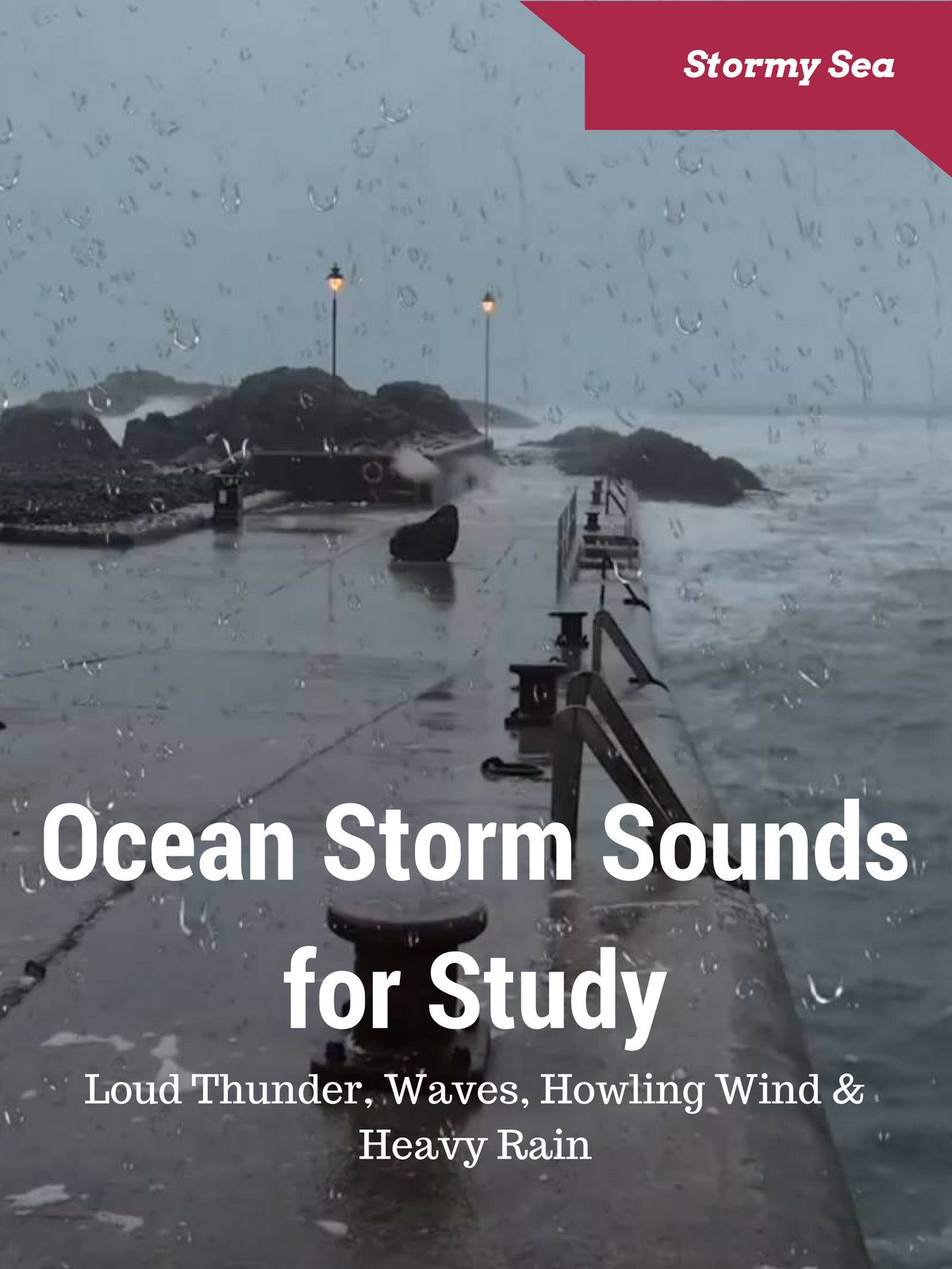 Ocean Storm Sounds for Study Loud Thunder, Wave, Howling Wind & Heavy Rain