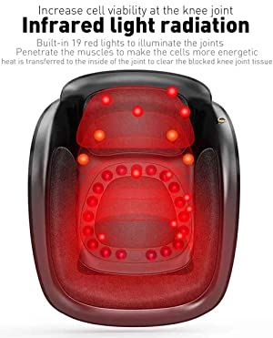 Knee Massager, AngVin Leg Knee Joint Arthristis Pain Relief Therapy Machine w/Airbag Compression Vibration Warm Heat Infrared Magnet Physiotheray, Gift for Mom Dad[Knee Dia<5in]