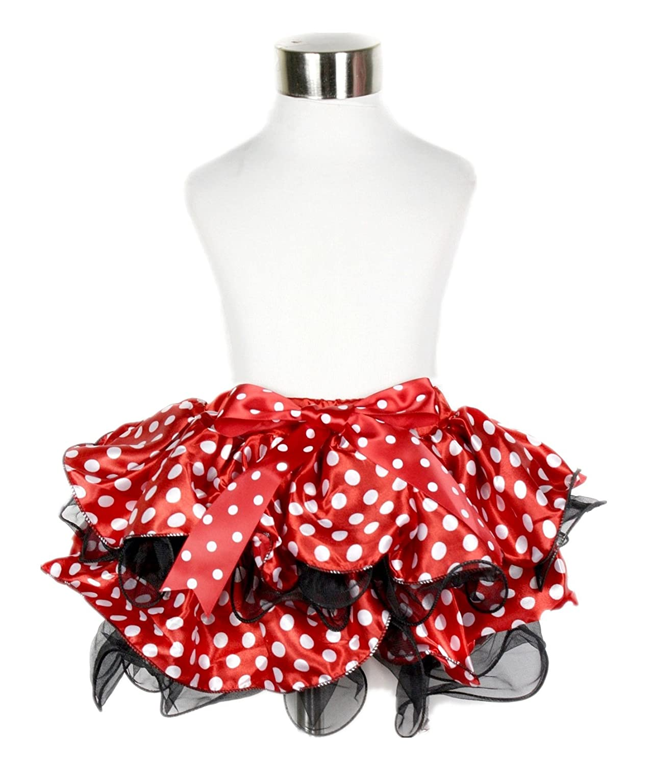 And extremely cute for little girls too!  Red Black Polka Dot 4 Layer Petal Skirt Tutu Girl Clothing Nb-8y