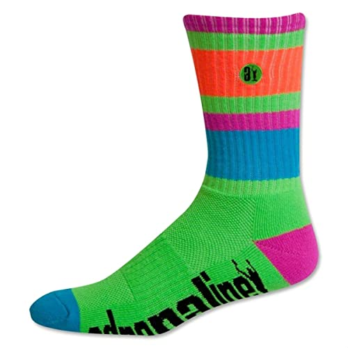 Adrenaline Neon Director Lacrosse Crew Socks (Color=Lime)