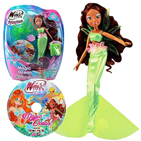 Winx Club - Magic Ocean - Layla Aisha poupée, 28cm - Vêtements & CD