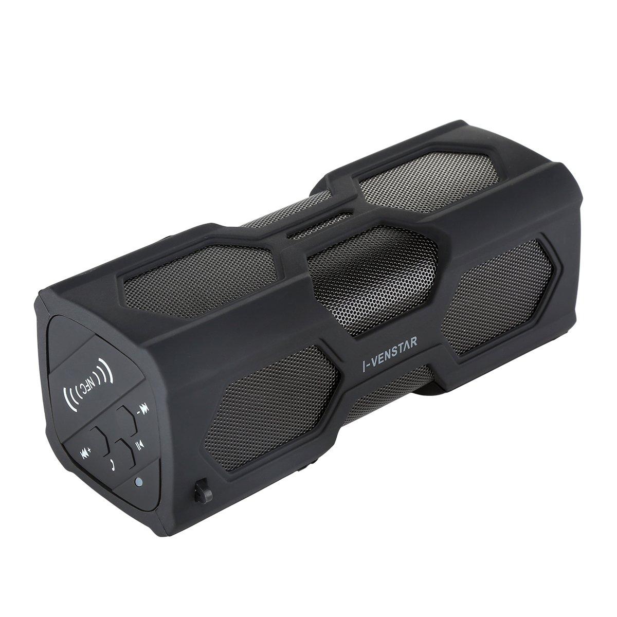 I-Venstar Waterproof Bluetooth Speaker, 4400mah Battery, Portable Wireless Dustproof Anti-scratch Shockproof Subwoofer Bass Sound Sport Speaker with 2x3W / CSR Chipset  ..
