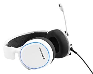 SteelSeries Arctis 5 - Gaming Headset - RGB Illumination - DTS Headphone:X v2.0 Surround for PC and PlayStation 4 - White [2019 Edition] (Color: White, Tamaño: Arctis 5)