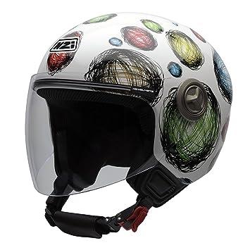 NZI 050256G407 autres casques helix iV, multi scribble casco de moto taille :  54 cm