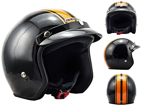 ARROW AV-47 black - noir Jet moto casque Vespa pilot scooter Taille: M