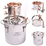 DIY 2 Gal 10 Liters Home Distiller Moonshine Alcohol Still Stainless Boiler Copper Thumper Keg (Color: Stainless Steel, Tamaño: 3 Gallon 10 Liters)