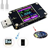 MakerHawk USB Power Meter Tester, Bluetooth USB Tester, Type-C Current and Voltage Monitor, USB Safety Tester, PD Battery Capacity Meter, Digital Color LCD Display Multimeter, USB Voltmeter Ammeter (Color: A3 Bluetooth Version)