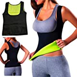 Women Hot Sweat Body Shaper Slimming Neoprene Shirt Vest Thermo Yoga Sauna Fat Burner Waist Shaper Trainer Cincher (M-2) (Tamaño: M-2)