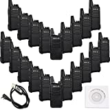 Retevis RT22 2 Way Radio Rechargeable VOX 16CH 400-480MHz CTCSS/DCS Two Way Radio(20 Pack) and Programming Cable