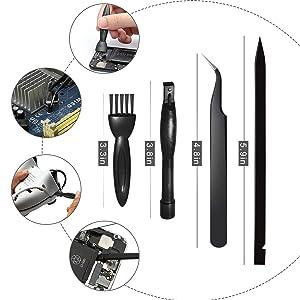 Screwdriver Set for MacBook, Tri-Wing Phillips Pentalobe 5 Pentalobe T5 Pentalobe T6 Screwdrivers Repair Tool Kit for Apple MacBook Mac Retina Pro Air