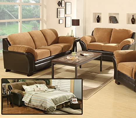 AC Pacific Mia Sofa Bed, Roman Coffee
